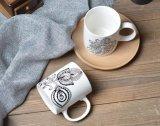 بيضاء خزفيّ فنجان/[أم] خزفيّ منتج حجريّ فنجان