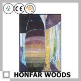 Bunter Hauptdekoration-abstrakte Kunst-Farbanstrich im hölzernen Rahmen