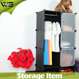 Mobília plástica Foldable barata do quarto do armário do Wardrobe para crianças