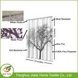 Poliéster Preto Branco Melhor cortina de chuveiro árvore elegante