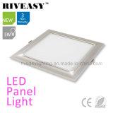 Electroplated свет панели алюминия 5W серебряный СИД