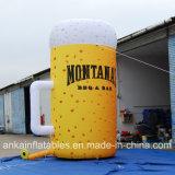 Taza grande inflable realista de la cerveza para hacia fuera la venta de la promoción de la puerta