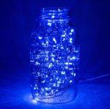 Câblage cuivre bleu féerique 6.6FT lumière étoilée flexible de chaîne de caractères de 20 DEL mini dans le cadre