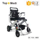Кресло-коляска электричества Topmedi алюминиевая облегченная складная