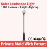 China toda en una torre ligera solar del jardín LED para el hogar