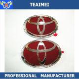 Emblèmes rouges faits sur commande de gril d'avant de véhicule de chrome d'ABS de logo de véhicule