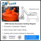 Chatarra de trabajo de trabajo electromagnético levantador adecuado para Excavadora Emw-110L