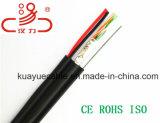 Câble d'acoustique de connecteur de câble de transmission de câble de caractéristiques de câble de câble/ordinateur du câble LAN Utpcat5e+Power