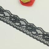 Cordón químico del poliester de la tela del cordón de Tulle para el cordón de los juegos de las señoras