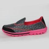 Nuevo zapato corriente hecho punto cómodo de la zapatilla de deporte