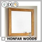 Het vierkante Grijze Houten Frame van de Spiegel voor de Decoratie van het Huis