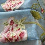Rideau en guichet floral d'arrêt total de broderie de Chenille populaire (20F0082)