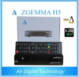 新しく最もよい販売のZgemma H5.2s FTAのサテライトレシーバの二重コアLinux OS E2 H. 265/Hevc DVB-S2+S2の対のチューナー