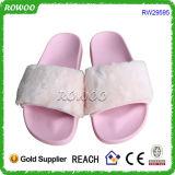 Тапочки популярного розового мягкого способа женщин шерсти верхнего теплые (RW29595)