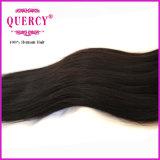 高品質の化学薬品の自由なインドのねじれたまっすぐなRemyの毛の織り方