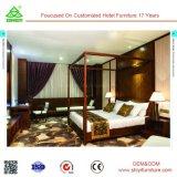 Комплект кровати высокой роскошной французской неоклассической мебели спальни королевский европейский