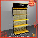 Soporte de visualización del metal con los estantes