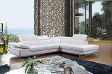 O sofá de couro secional com L mobília da forma ajustou-se para a mobília da sala de visitas