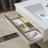 Шкаф тщеты ванной комнаты твердой древесины изделий керамического Countertop самомоднейший санитарный