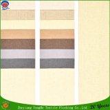 Tela impermeable de lino tejida de la cortina de ventana del franco del poliester para el uso del hotel