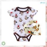 Ropa de bebé de impresión de rayas ropa de recién nacido de Handfeel suave conjunto