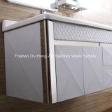 Weiße oder schwarze Farben-Edelstahl-Badezimmer-Eitelkeit mit kundenspezifischer Größe