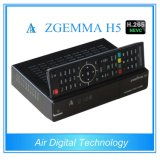 Tuners jumeaux procurables mondiaux du système d'exploitation linux MPEG4 H. 265 DVB-S2+T2/C de dual core de récepteur de satellite/câble de Zgemma H5 Multistream