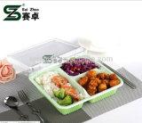 o plástico descartável do compartimento 1200ml 3 leva embora a caixa de almoço