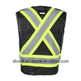 Weerspiegelend Vest 100% van de Verkeersveiligheid het Netwerk van de Polyester met Zwarte en Kalk