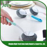 Balai de nettoyage en acier de récureur de balai de nettoyage de cuisine de récureur
