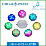 Luz de la piscina de la resina de epoxy del LED, iluminación subacuática impermeable del 100%
