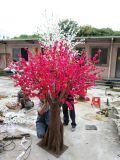 복숭아 꽃송이 인공 실크 꽃 나무