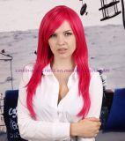 당, 성과 및 Cosplay를 위한 다채로운 방열 합성 머리 가발
