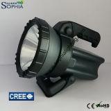 500mの長距離が付いている高い発電Rechargeable10W携帯用LEDの懐中電燈