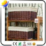 중국에서 공장을%s 가진 등나무 바구니 그리고 저장 상자를 뜨개질을 하는 고품질 손
