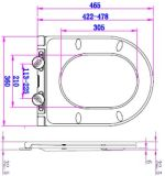 Schnelle Freigabe-runder weicher Harnstoff-Toiletten-Sitzdeckel