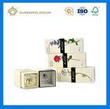 Rectángulo de lujo de gama alta del perfume del papel de la cartulina (rectángulo de empaquetado de encargo)
