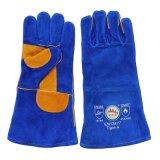 Doppelte Palmen-Rindleder-aufgeteiltes Leder-Schweißens-Handhandschuhe