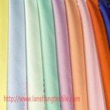 Tissu de polyester de Kation de satin pour le rideau en chemise de robe
