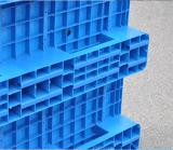 Стороны HDPE девственницы подноса 1200*1000*150mm продуктов пакгауза паллет пластичной плоской пластичный с 3 бегунками для паллета стандарта EU