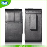 Premium Black Belt Holster Horizontal Leather Sleeve Pouch Case for Samsung Galaxy S8