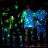 8つのパターンが付いている星夜レーザーのクリスマスの赤いですか緑色航法燈のシャワーの星