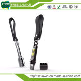 Impulsión de la pluma de la muestra libre del cuero del metal de la promoción del USB