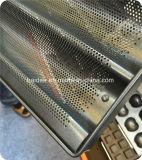 5 - Cacerola perforada de aluminio del Baguette de la fila, bandeja del francés de la cacerola del Baguette del FDA