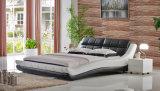 Классицистическая самомоднейшая кровать белой кожи мебели спальни двойная (HC579)