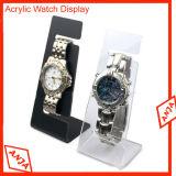 Soporte al por menor de madera del sostenedor del reloj de la caja de presentación del reloj