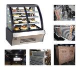 Frigorifero di vetro curvo aperto anteriore della torta del portello di Dukers 1.5m, dispositivo di raffreddamento del panino, vetrina della pasticceria, armadietto di esposizione della torta