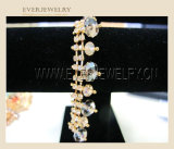 진주를 가진 도매 공상 모조 다이아몬드 컵 사슬 트리밍