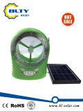 Mini ventilador de refrigeração solar com luz do diodo emissor de luz e função do rádio