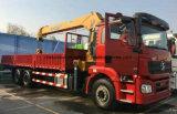 Shacman 10tons Foldableアームクレーン貨物自動車のトラックによって取付けられるクレーン